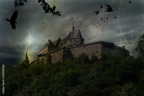 canvas print picture Vianden_Luxemburg