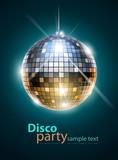 Fototapety mirror disco ball vector illustration EPS10. Transparent