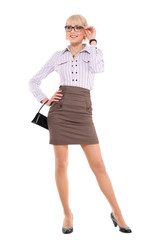 Young professional woman. White Caucasian businesswoman