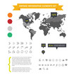 Web infographic elements set isolated