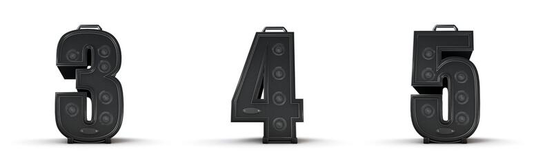 Amplifier alphabet 3 4 5