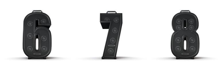 Amplifier alphabet 6 7 8