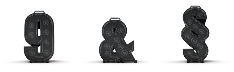 Amplifier alphabet 9 ampersand section