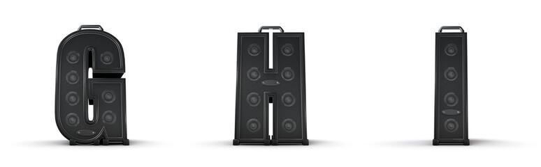 Amplifier alphabet G H I