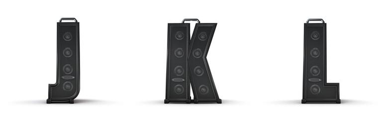 Amplifier alphabet J K L