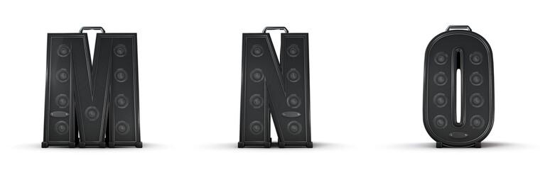 Amplifier alphabet M N O