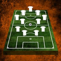 3d Football or soccer field