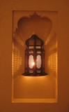 Turkish lantern in an alcove