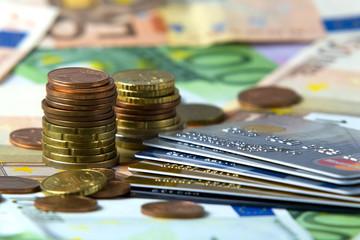 Euro  and credit card