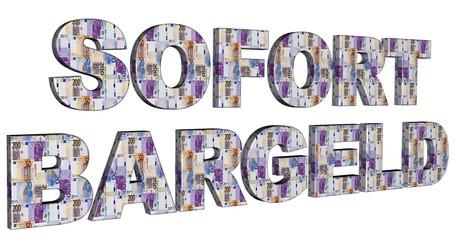 3D Geldschrift - SOFORT BARGELD