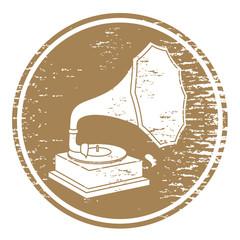 Vintage gramophone sign