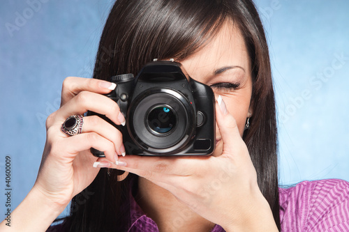 girl wit camera