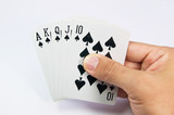 game of cards with poker of Royal Flush