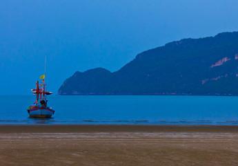 fishing boat at the sea