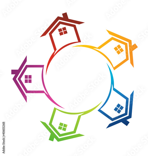 Group of Houses in circle