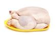 raw chicken on plastic plate