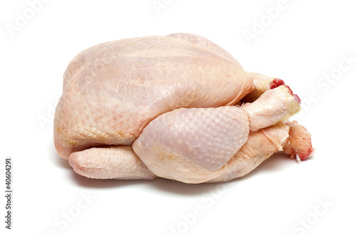 raw chicken isolatde on white background