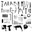 Construction tools set - black