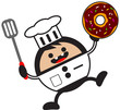 illustration of cartoon chef