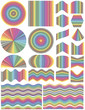 Set of vector design elements in full color range