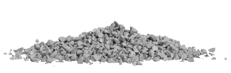 Rendered Image of Rock Rubble