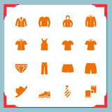 Clothing icons | In a frame series