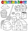 Coloring book farm theme 2