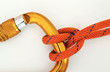 Climbing equipment - carabiner and knot