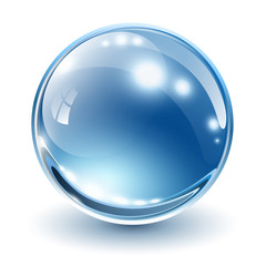 3D glass sphere
