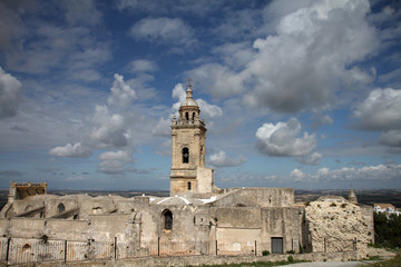 Medina Sidonia, Spain, view of church and ancient alcazar