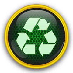 Yeşil petekli geri dönüşüm ikonu