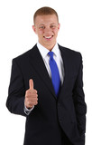 Businessman thumbs up