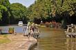 Leinwanddruck Bild - Chiusa sul Canal du Midi, Francia del sud