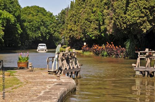 Foto op Plexiglas Kanaal Chiusa sul Canal du Midi, Francia del sud