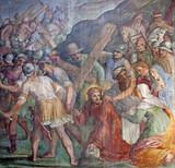 Rome - Jesus Christ under cross -  Santa Prassede