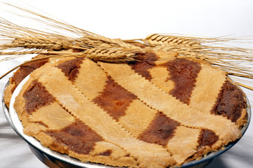 "Typical Neapolitan paschal dessert called ""Pastiera""."