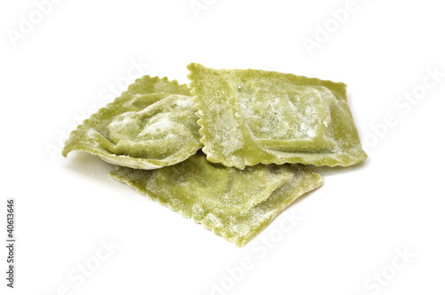 Ravioli filled with spinach and ricotta - Italian pasta
