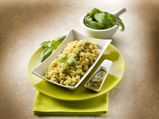 risotto with pesto sauce