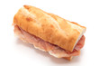 Sandwich with uncured ham