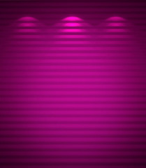 Illuminated violet wall, abstract background