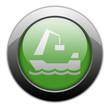 "Green Metallic Orb Button ""Harbor"""