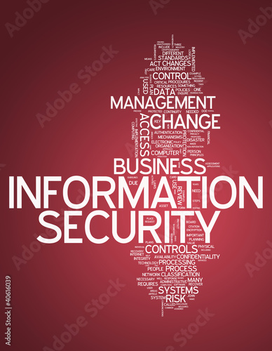 "Word Cloud ""Information Security"""