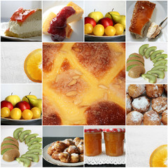 Postres, mosaico, collage
