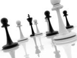chess piece advising to strategic behavior poster