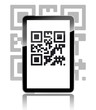 Tablet mit QR-Code
