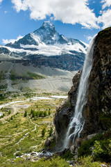 Matterhorn with waterfal