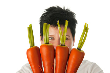 Woman with carrots