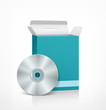 Vector cd packaging software blue box
