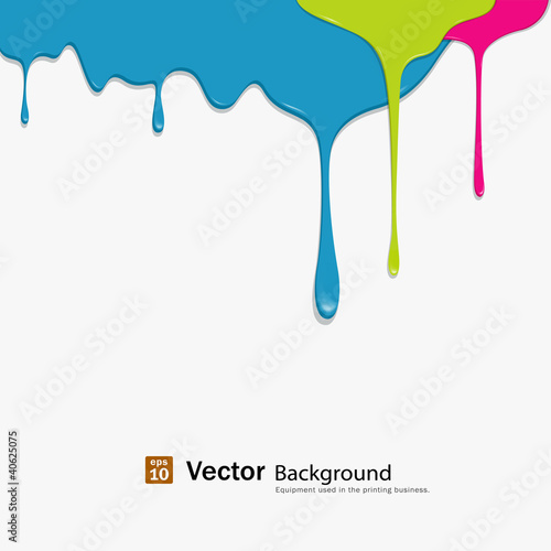 Paint colorful dripping background, vector