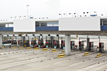 toll station and Billboard